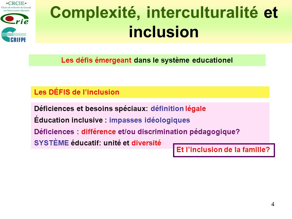 Complexité, interculturalité et inclusion