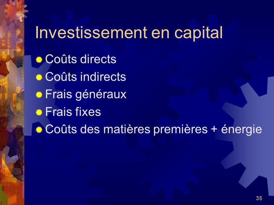 Investissement en capital