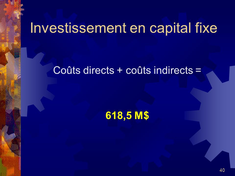 Investissement en capital fixe