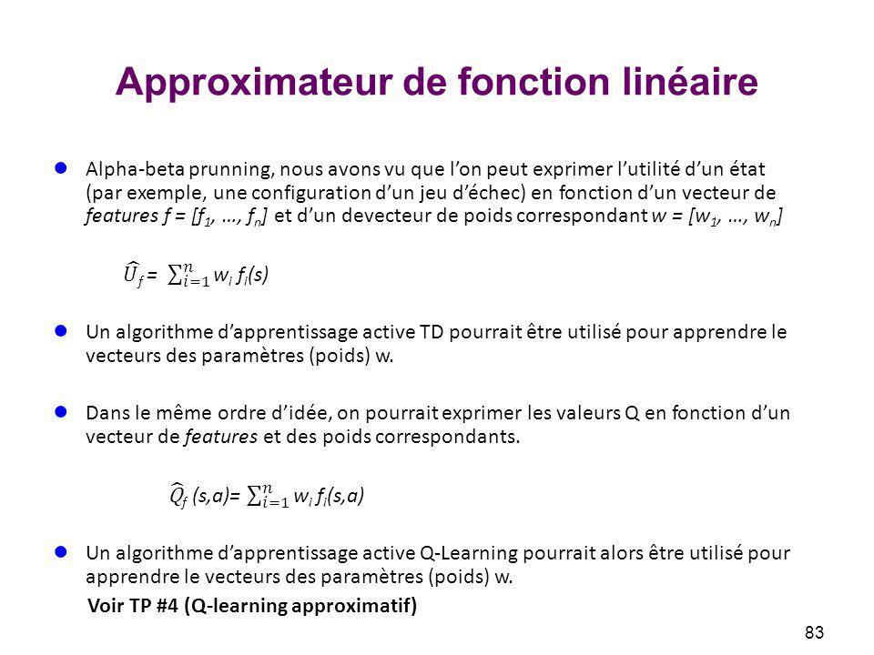 Approximateur de fonction linéaire