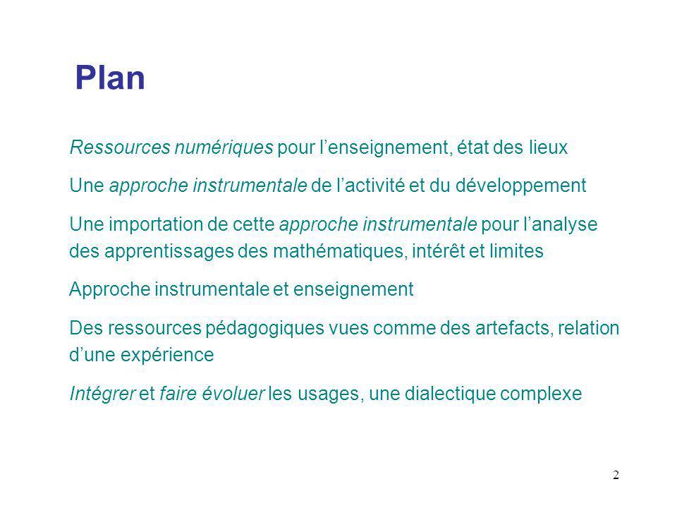 Plan Ressources numériques pour l'enseignement, état des lieux