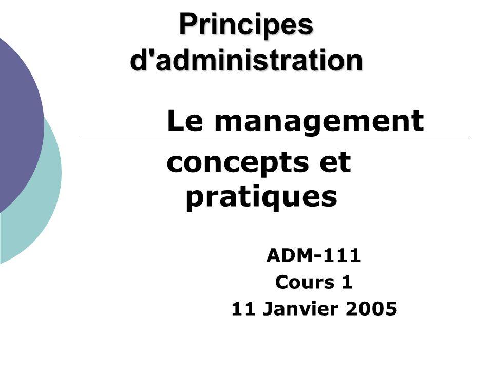 Principes d administration