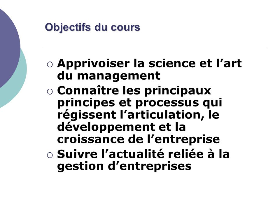 Apprivoiser la science et l'art du management