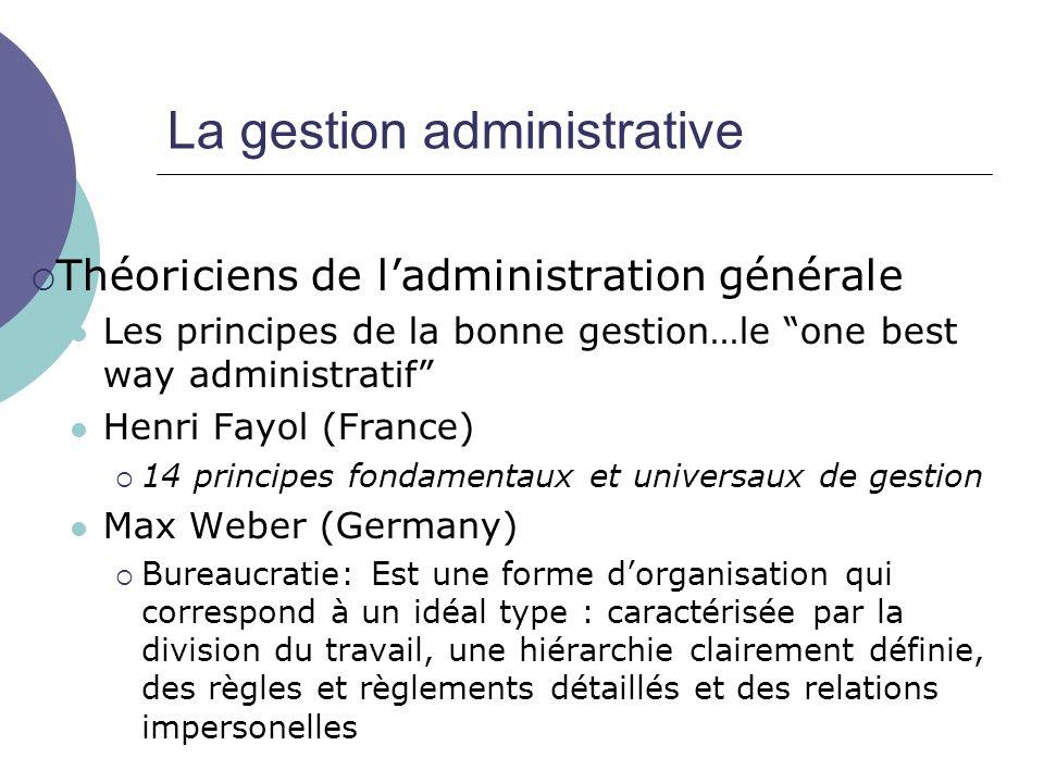 La gestion administrative