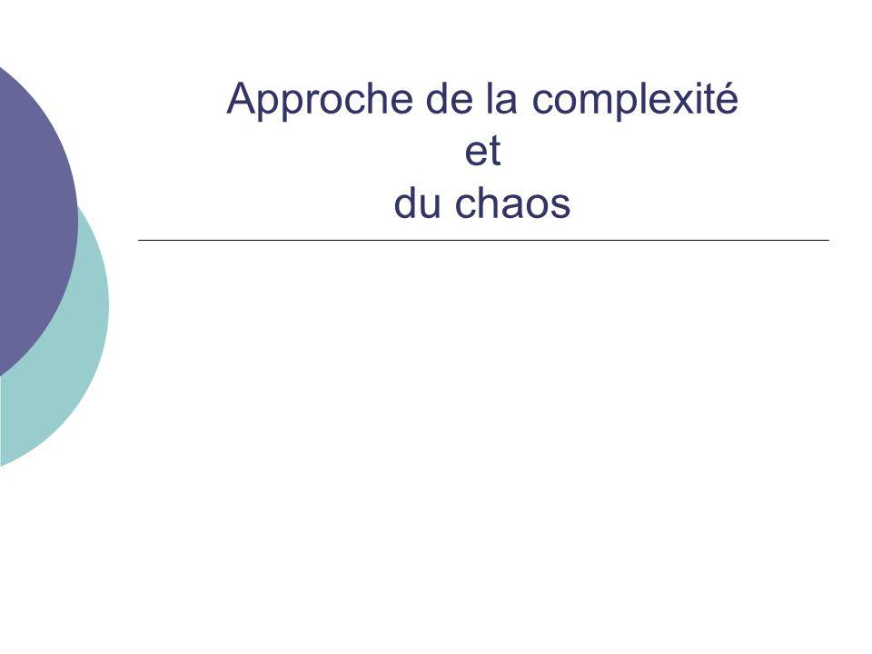 Approche de la complexité et du chaos