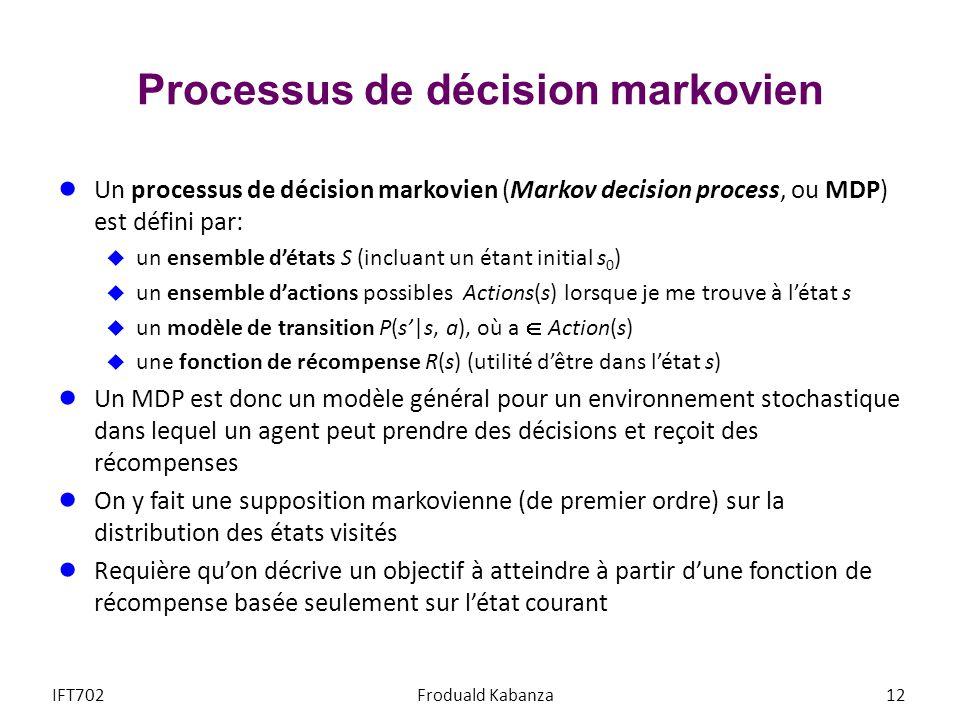Processus de décision markovien