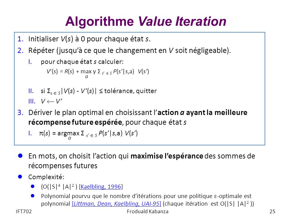 Algorithme Value Iteration
