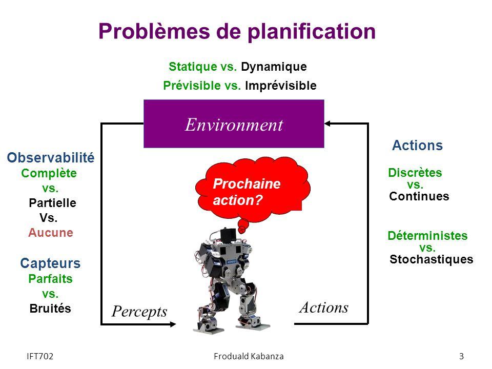 Problèmes de planification
