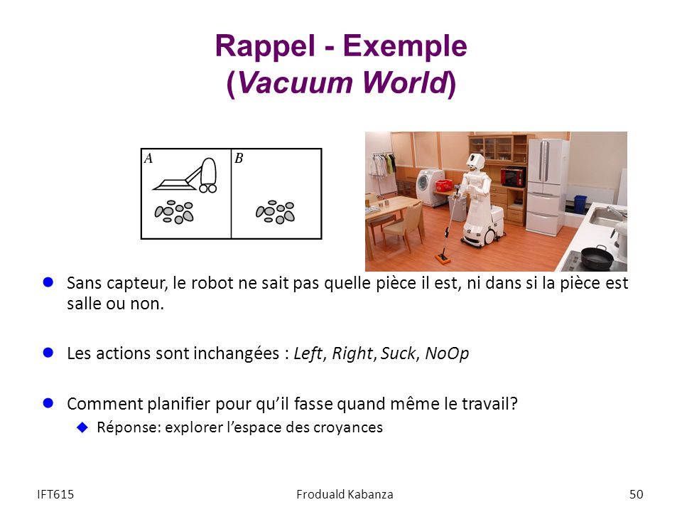 Rappel - Exemple (Vacuum World)