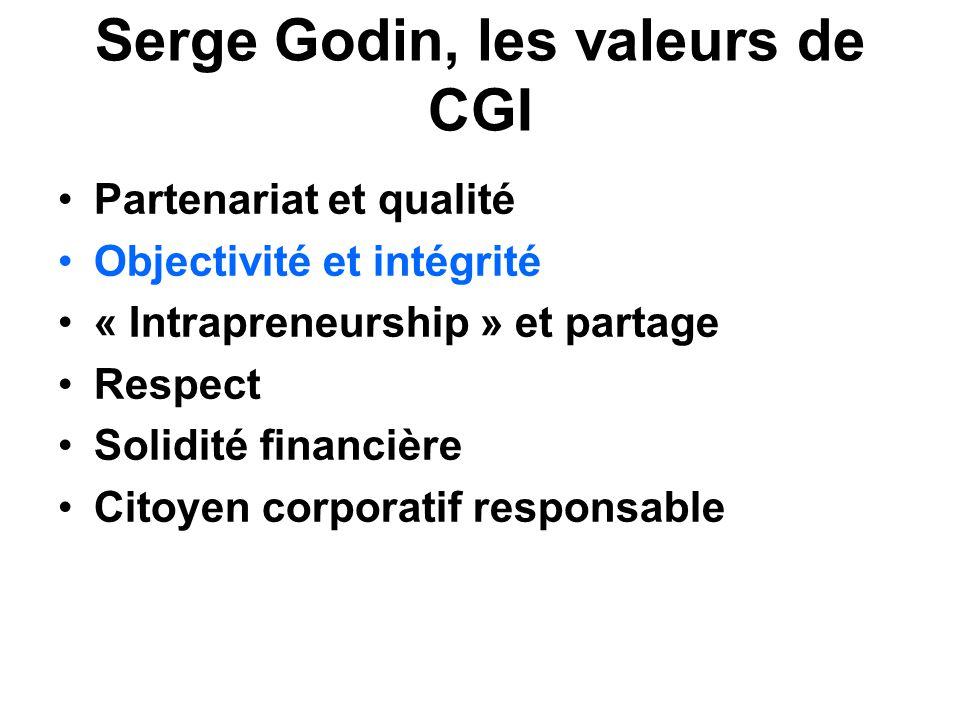 Serge Godin, les valeurs de CGI