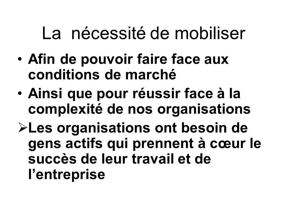 La nécessité de mobiliser