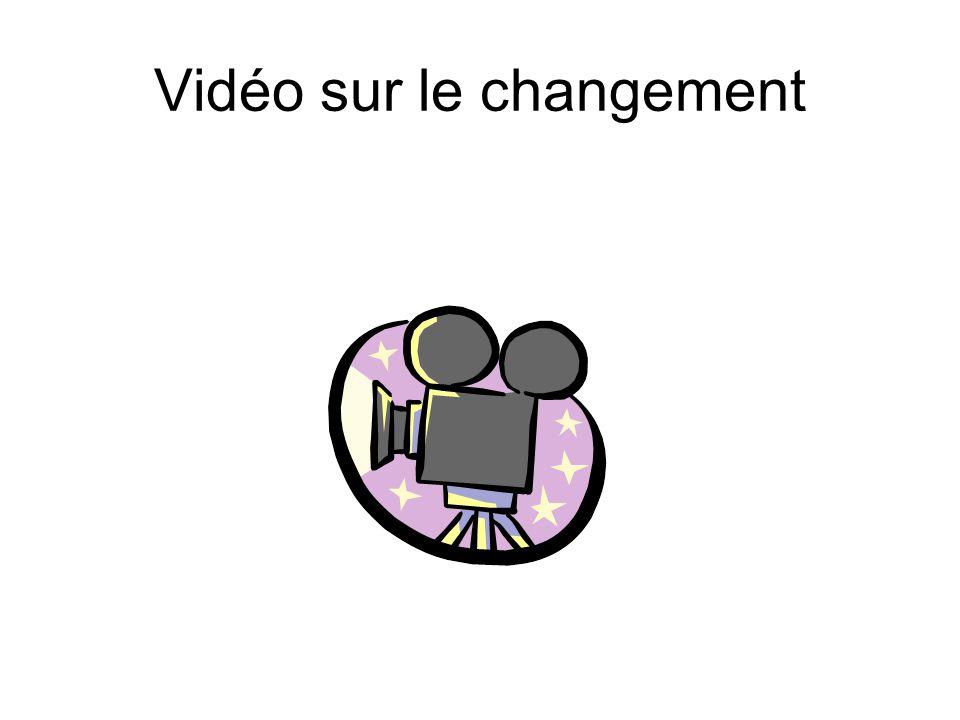 Vidéo sur le changement
