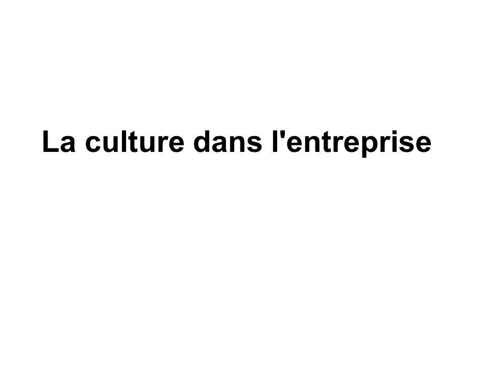 La culture dans l entreprise
