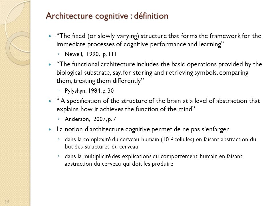 Architecture cognitive : définition