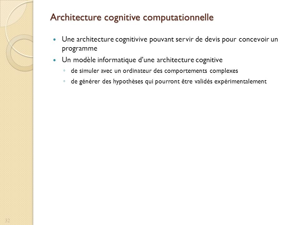 Architecture cognitive computationnelle