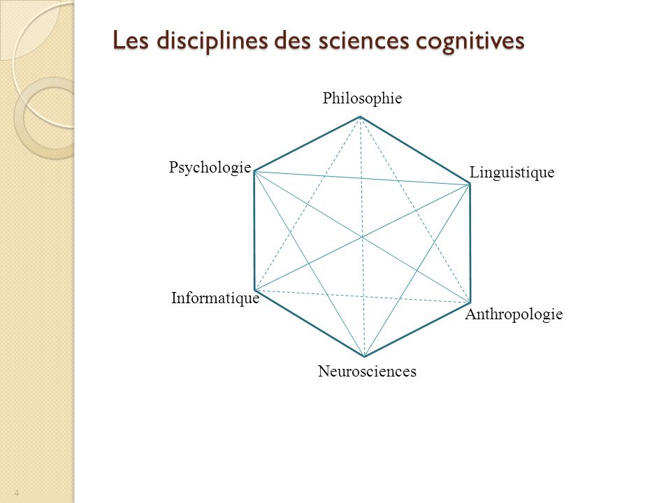 Les disciplines des sciences cognitives
