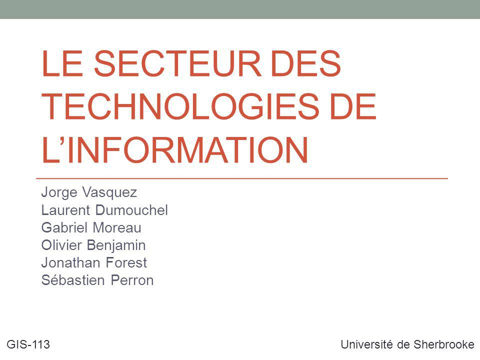 Le secteur des Technologies de l'information