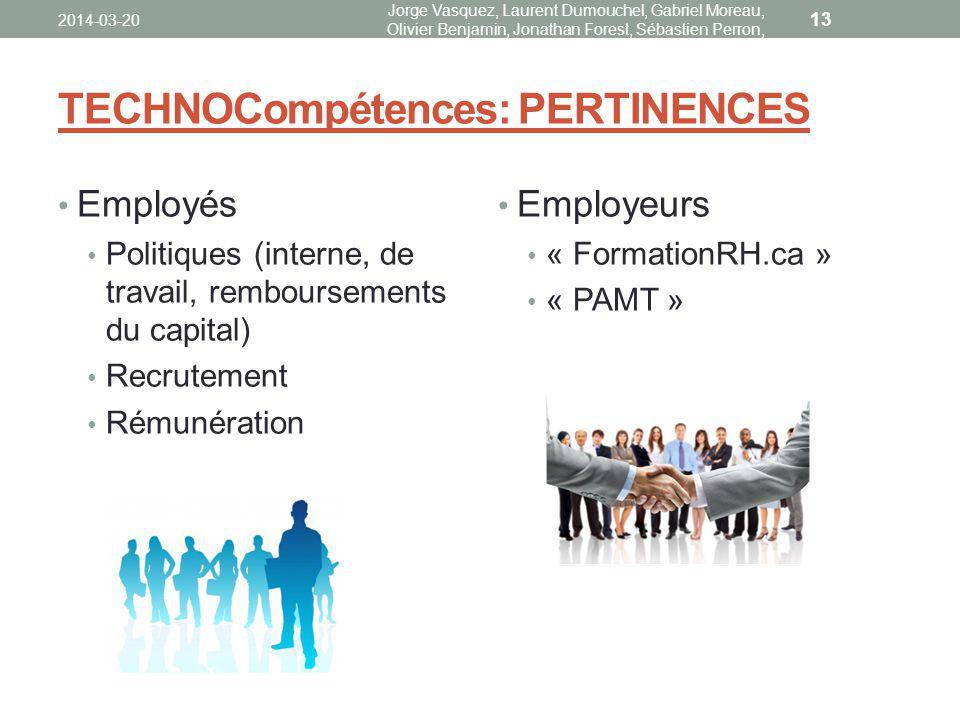 TECHNOCompétences: PERTINENCES