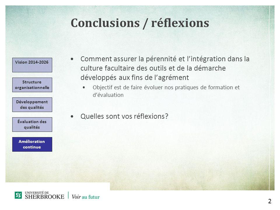 Conclusions / réflexions