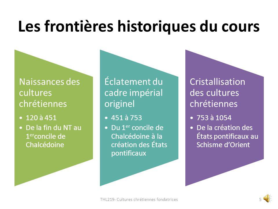 Les frontières historiques du cours