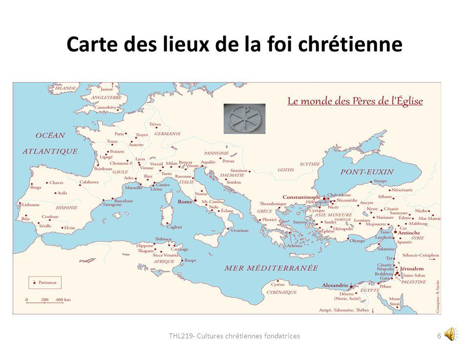 Carte des lieux de la foi chrétienne