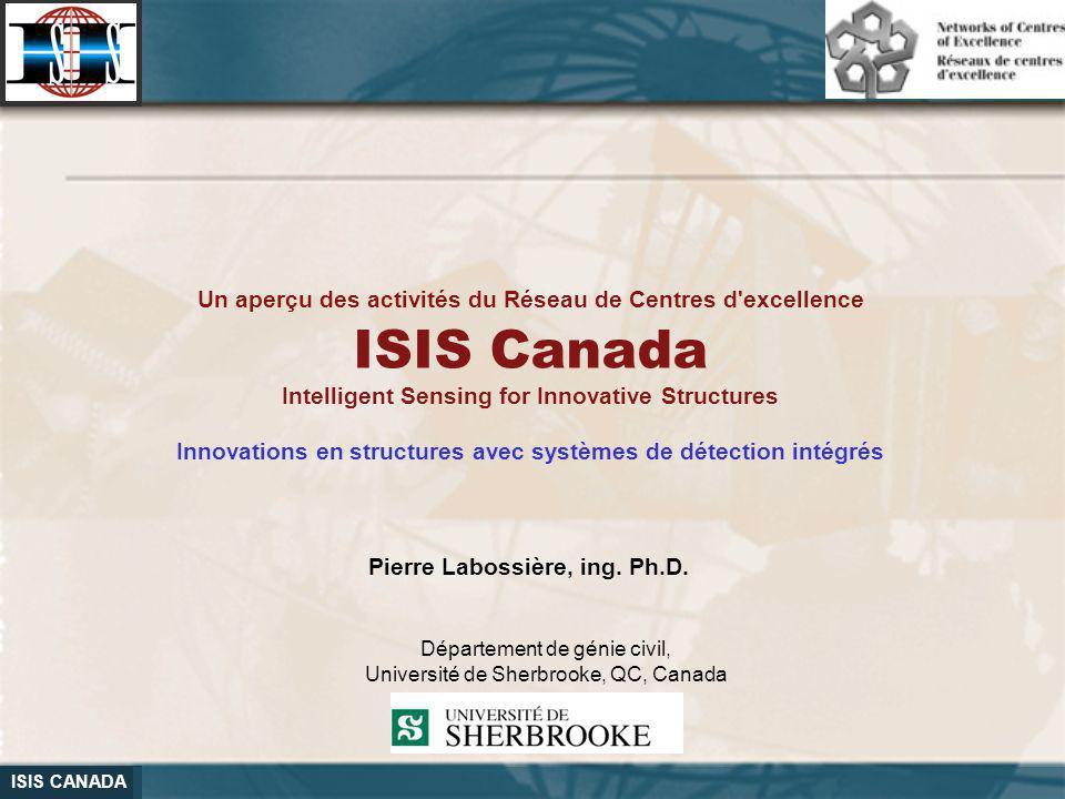 Un aperçu des activités du Réseau de Centres d excellence ISIS Canada
