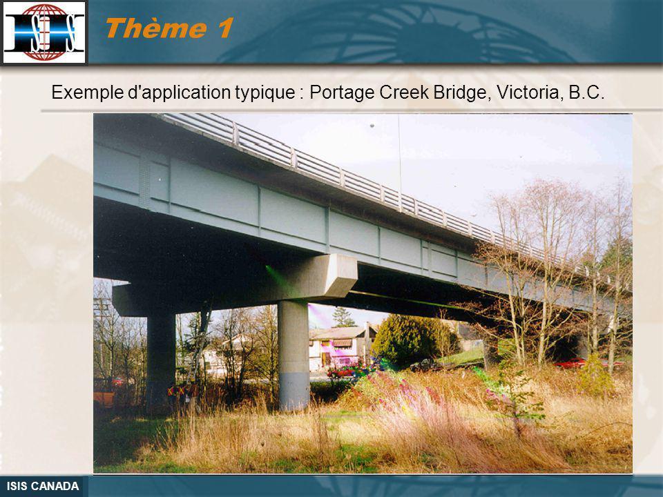 Thème 1 Exemple d application typique : Portage Creek Bridge, Victoria, B.C.
