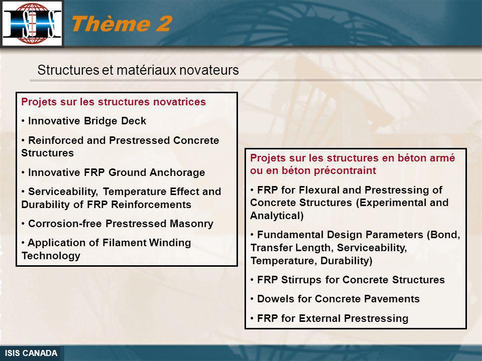 Thème 2 Structures et matériaux novateurs