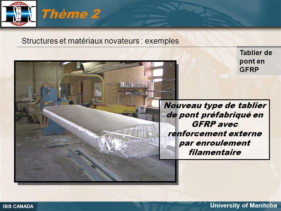 Thème 2 Structures et matériaux novateurs : exemples