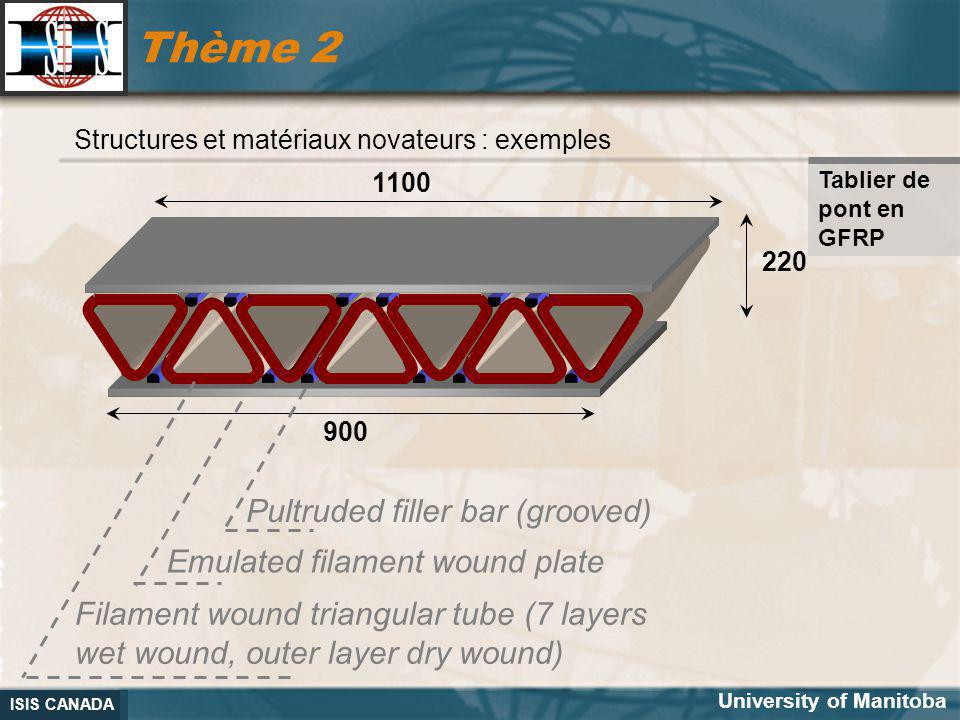 Thème 2 Pultruded filler bar (grooved) Emulated filament wound plate