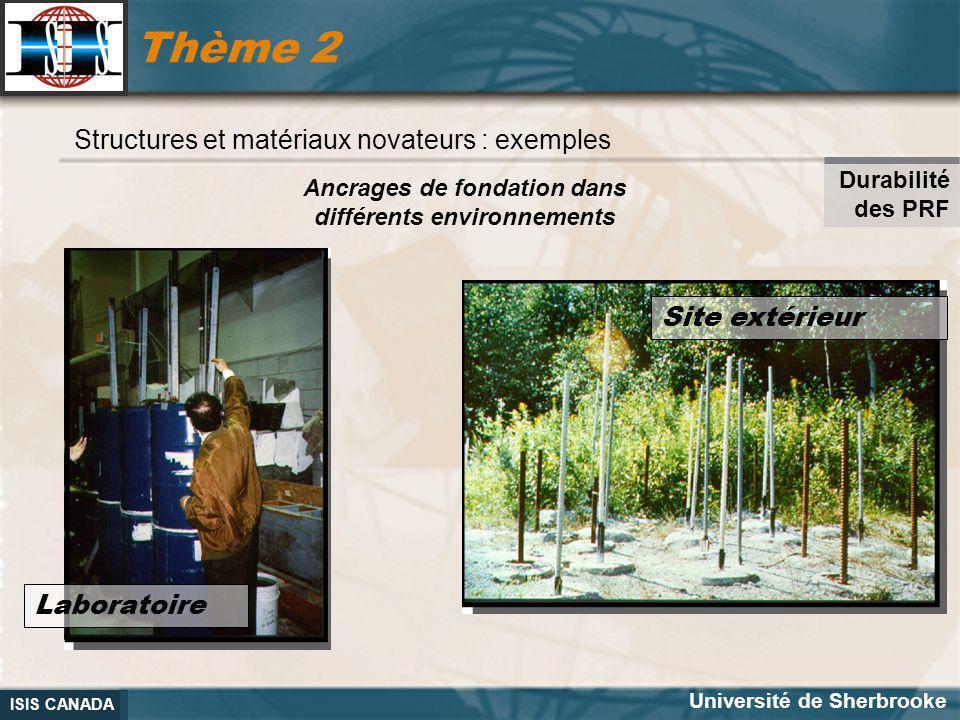 Ancrages de fondation dans différents environnements