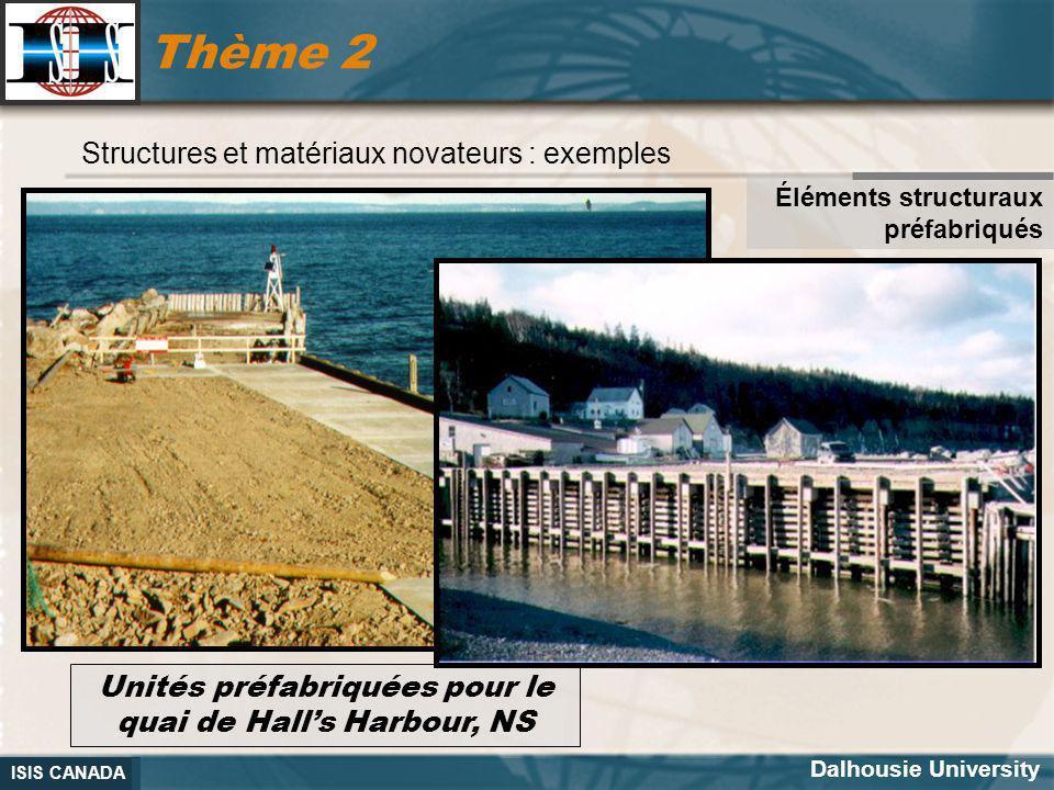 Unités préfabriquées pour le quai de Hall's Harbour, NS