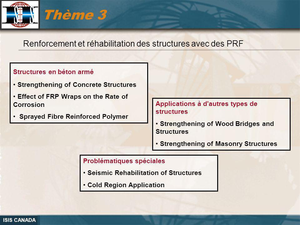 Thème 3 Renforcement et réhabilitation des structures avec des PRF