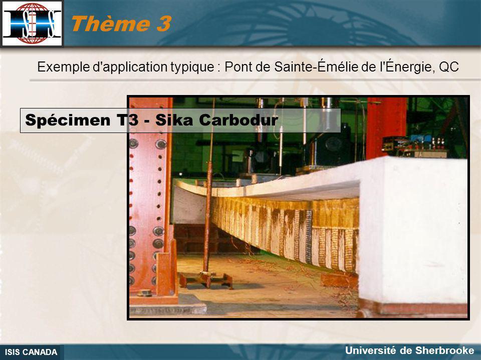 Thème 3 Spécimen T3 - Sika Carbodur