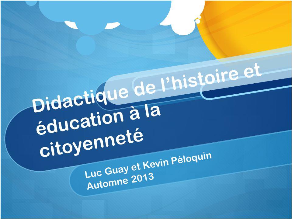 Didactique de l'histoire et éducation à la citoyenneté