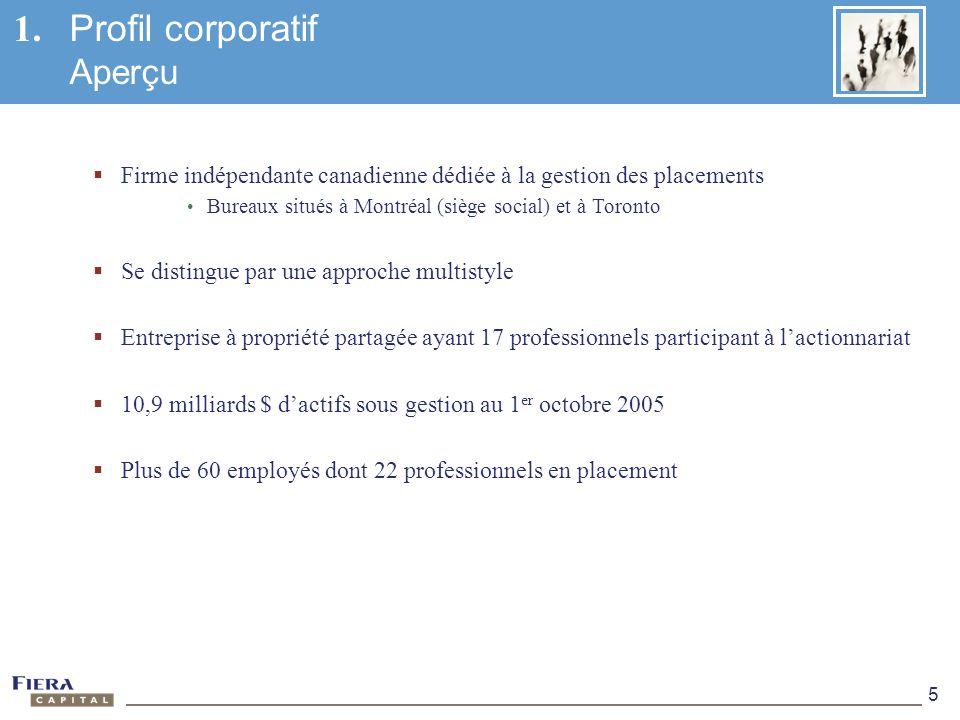 1. Profil corporatif Aperçu