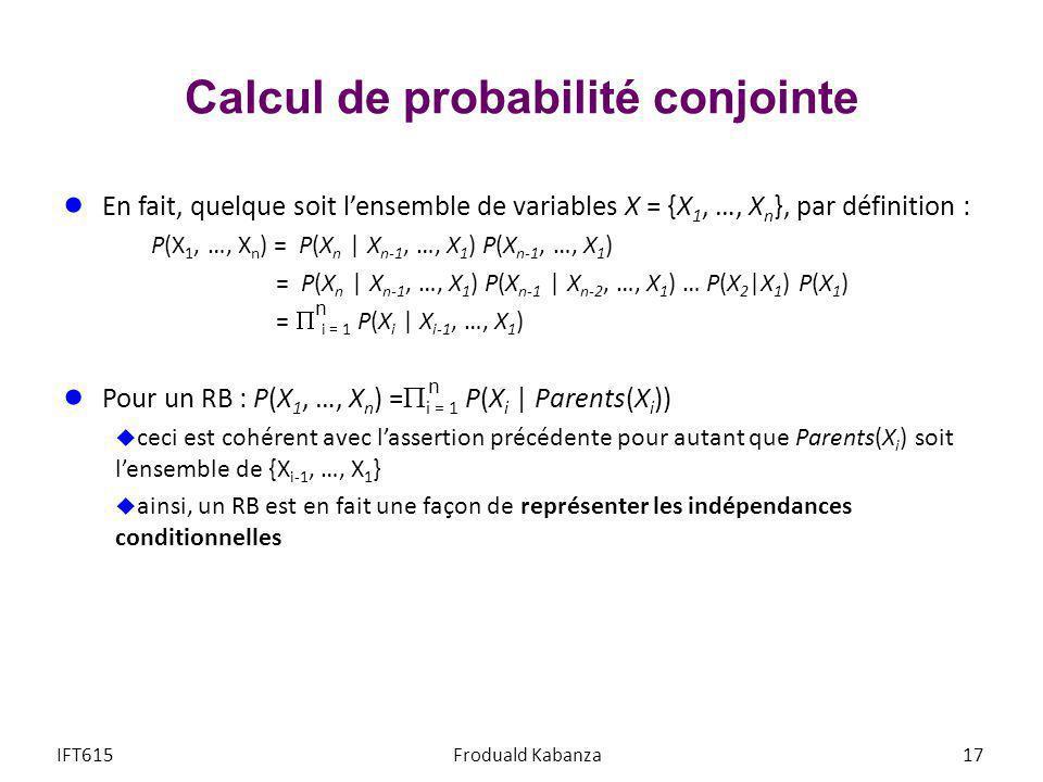 Calcul de probabilité conjointe