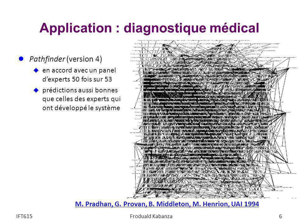 Application : diagnostique médical