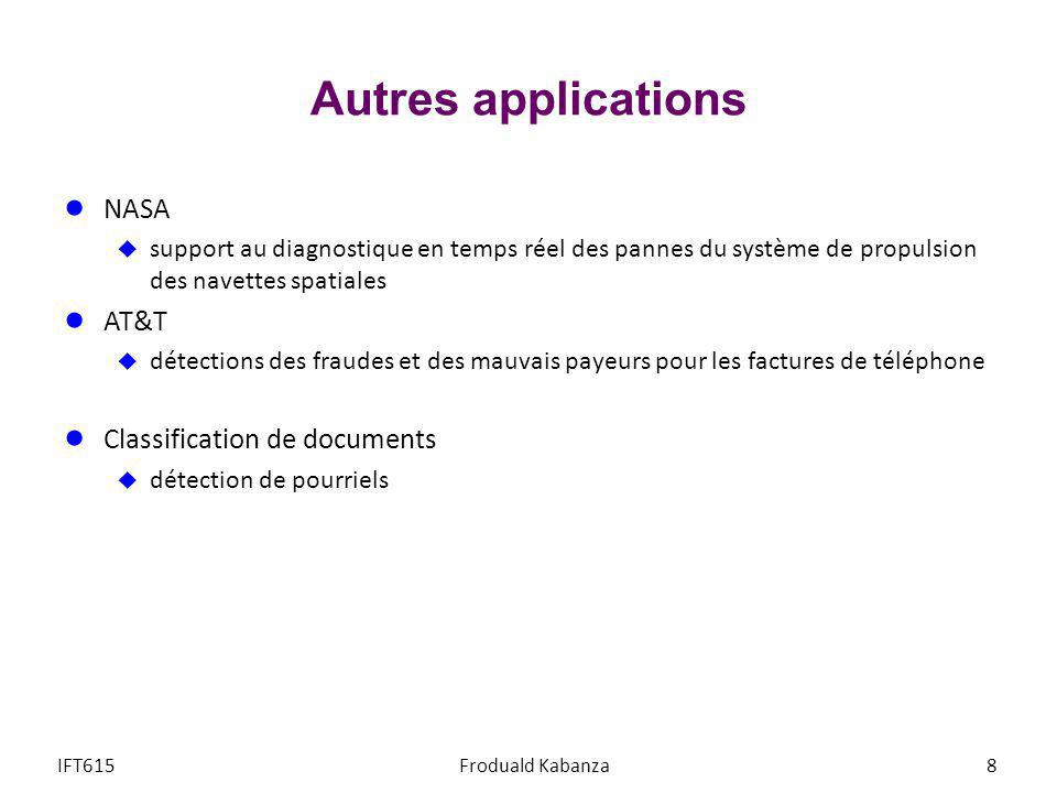 Autres applications NASA AT&T Classification de documents
