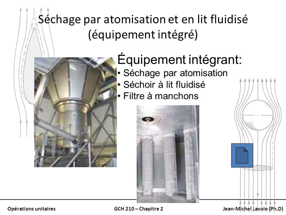 Séchage par atomisation et en lit fluidisé (équipement intégré)