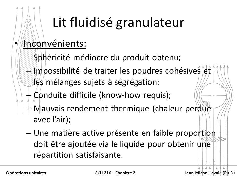 Lit fluidisé granulateur