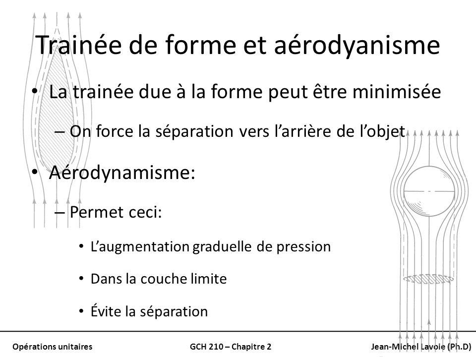 Trainée de forme et aérodyanisme