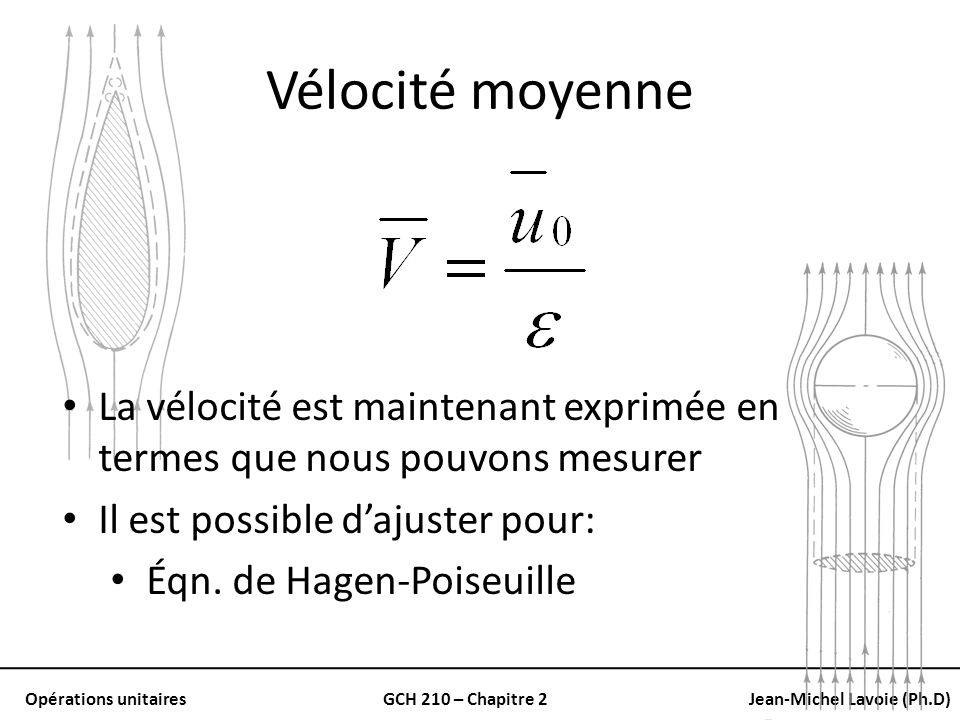 Vélocité moyenne La vélocité est maintenant exprimée en termes que nous pouvons mesurer. Il est possible d'ajuster pour: