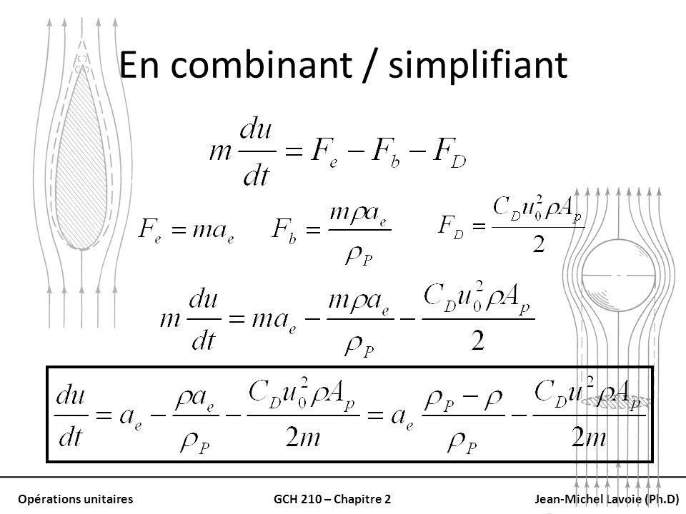 En combinant / simplifiant