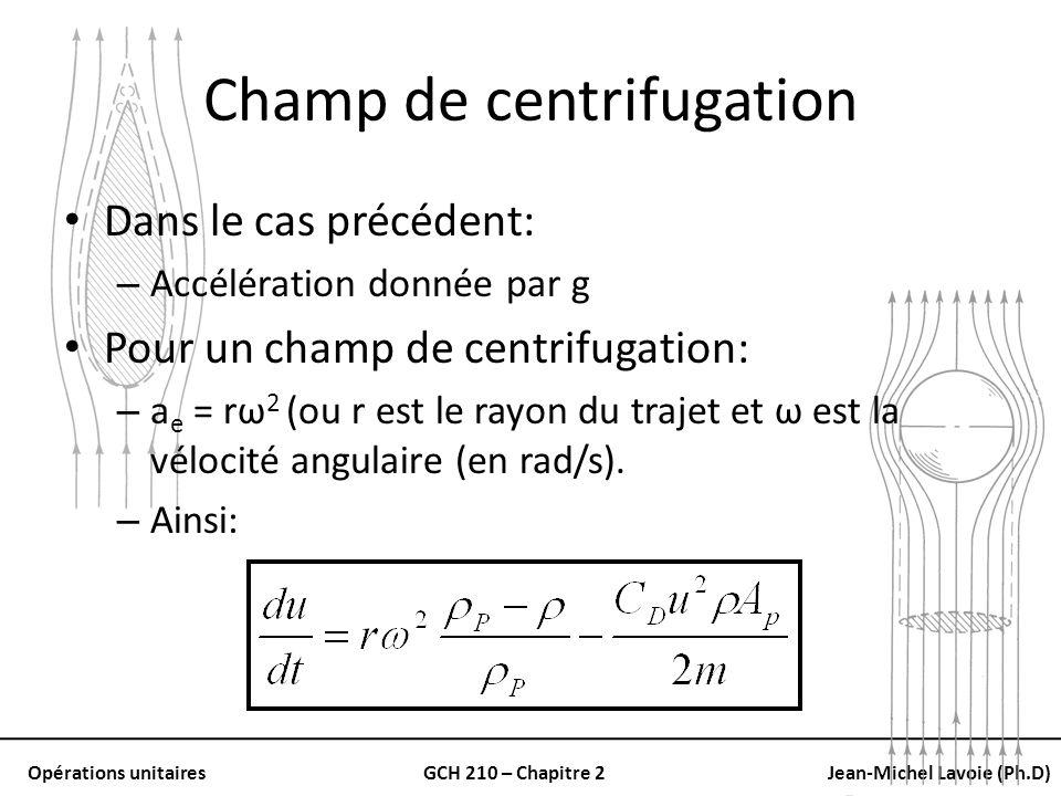 Champ de centrifugation