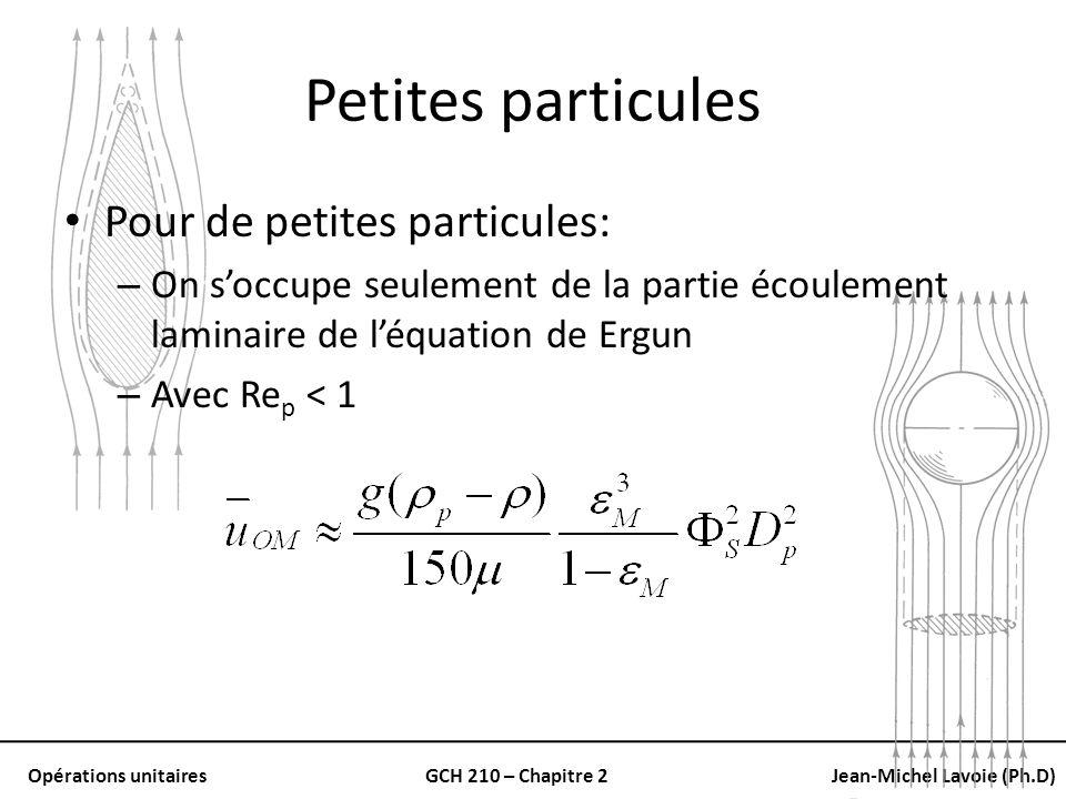 Petites particules Pour de petites particules: