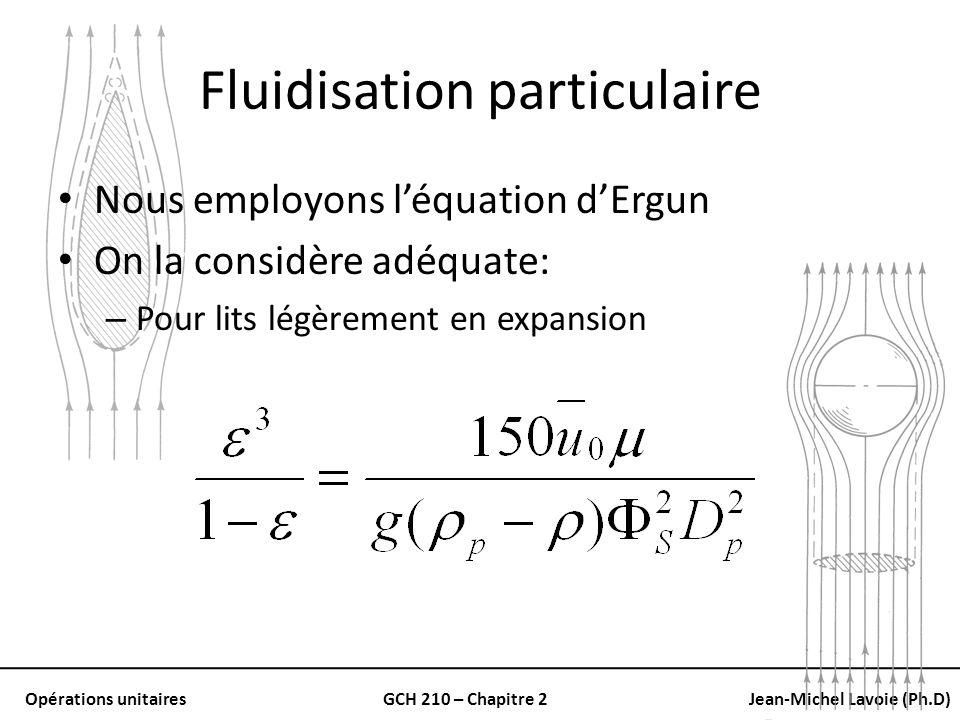 Fluidisation particulaire