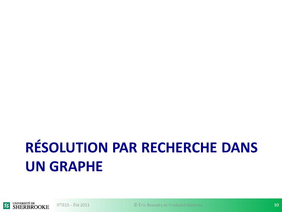 Résolution par recherche dans un graphe