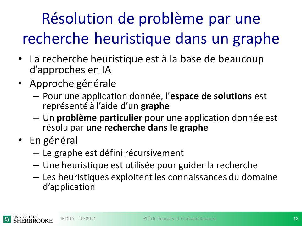 Résolution de problème par une recherche heuristique dans un graphe