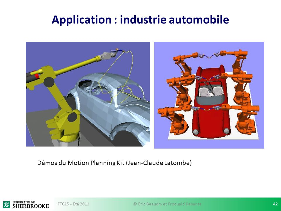 Application : industrie automobile